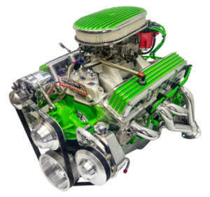 Engine Factory 350 Chevy engine with custom color and wires
