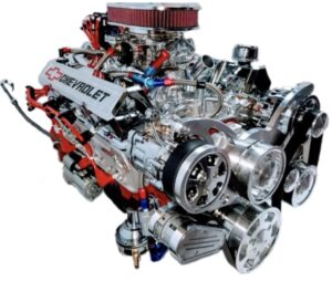#2 350 400 HP with chrome alt. PS and AC, polished intake and chrome valve covers